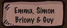 Emma, Simon, Briony and Guy