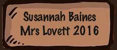 Susannah Baines Mrs Lovett 2016