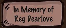 In memory of Reg Dearlove