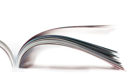 Selective focus image of magazine in pro