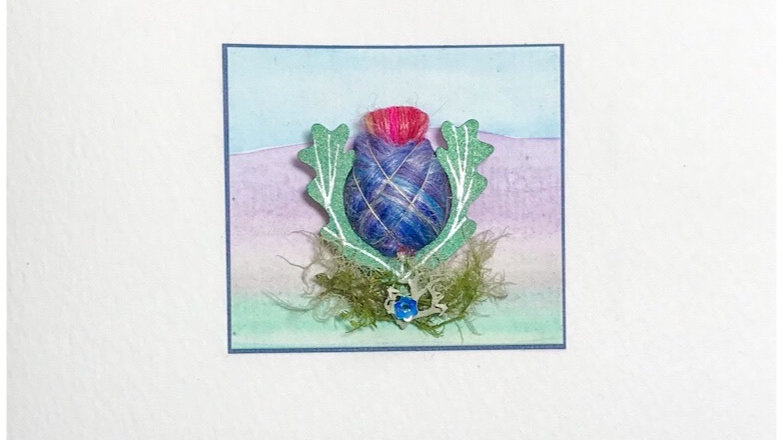 Card/Brooch Card Scottish Thistle