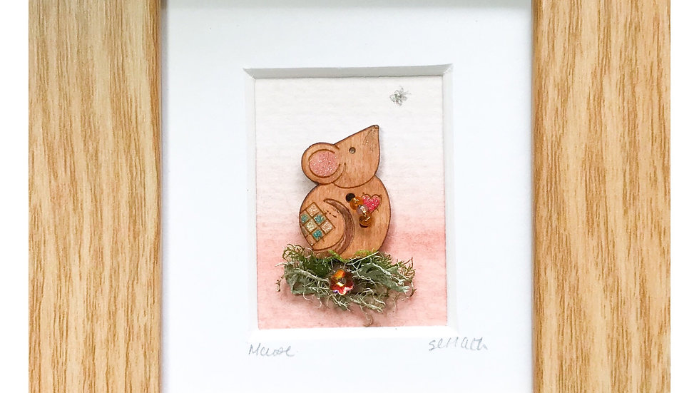 Woodland Mouse Mini Boxed Picture