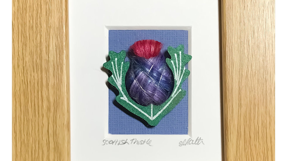 Wool Wrapped Scottish Thistle Mini Boxed Pictures