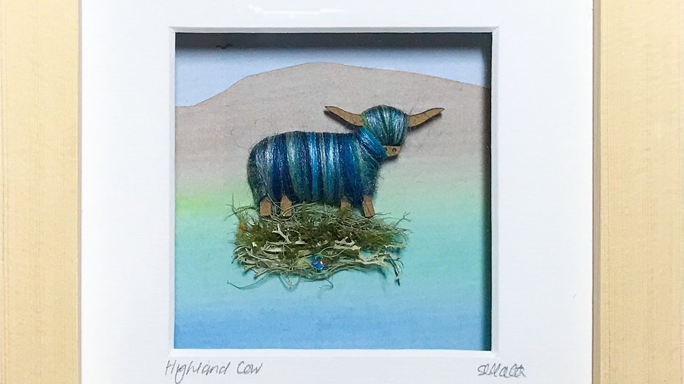 Small Boxed Picture Highland Cow
