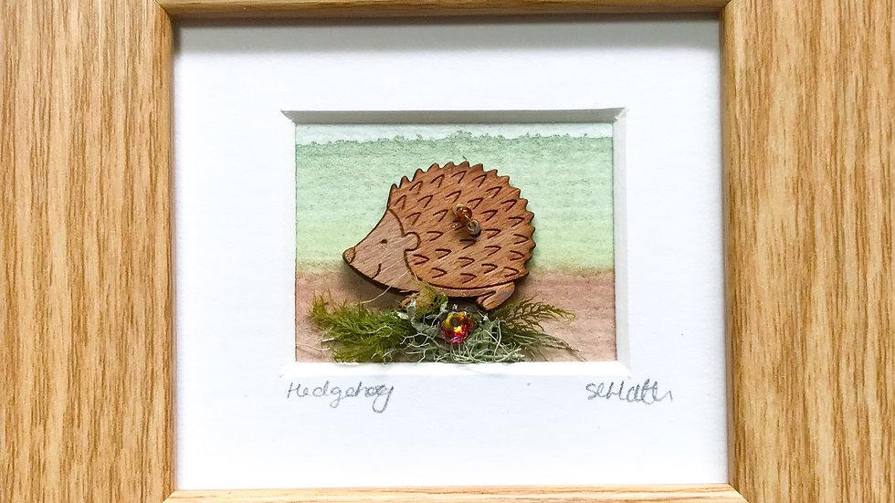 Hedgehog Mini Boxed Picture