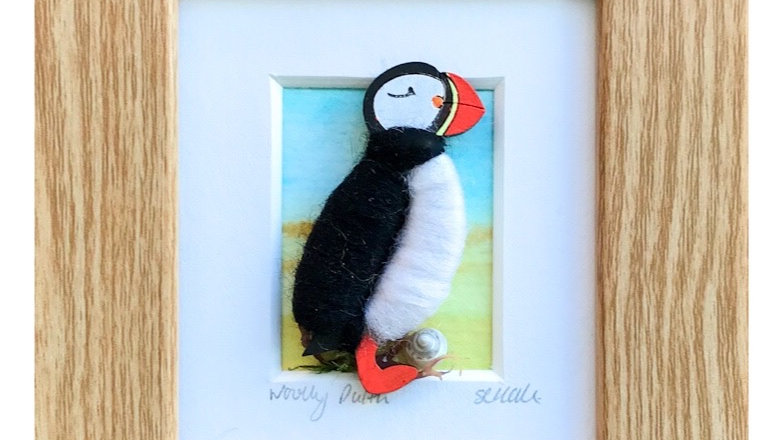 Woolly Puffin Watercolour Mini Boxed Pictures