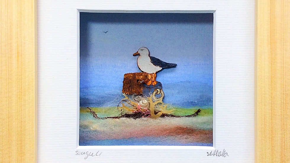 Small Boxed Picture Seagull