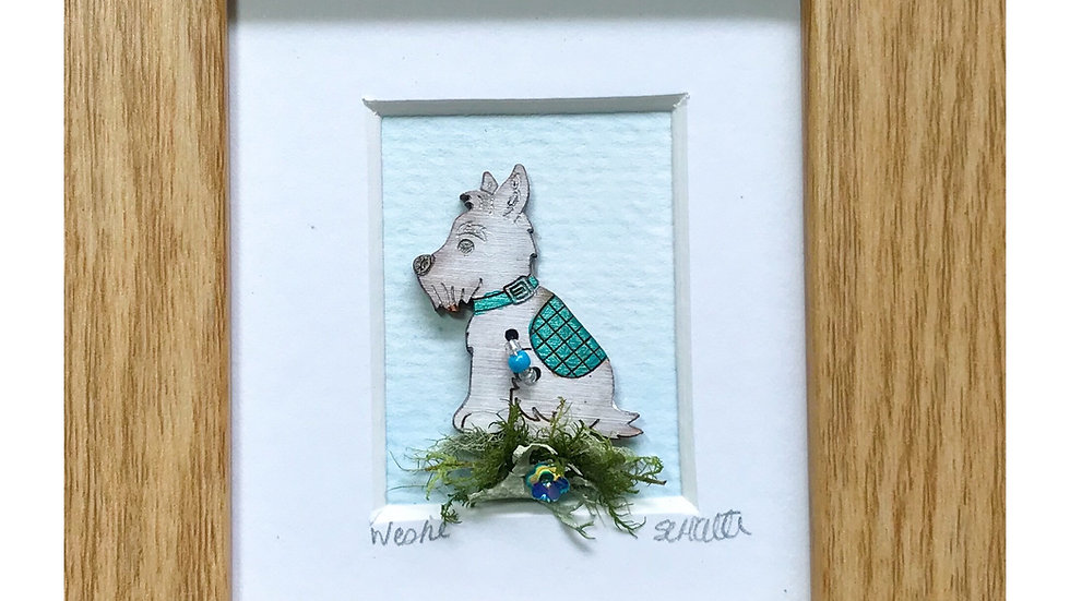 Westie Mini Boxed Picture