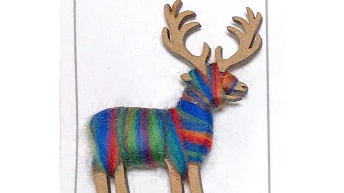 Stag Brooch Colour Blends