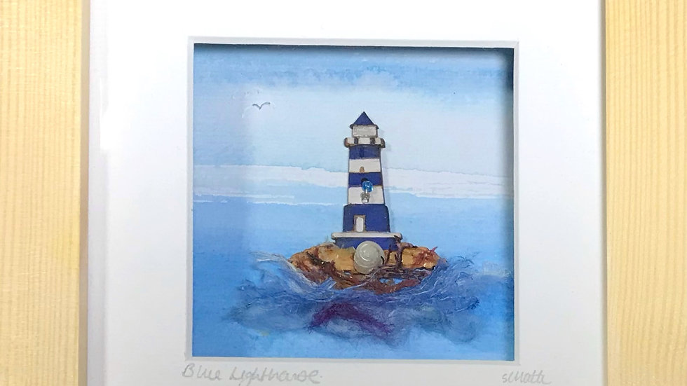 Small Boxed Picture Lighthouse