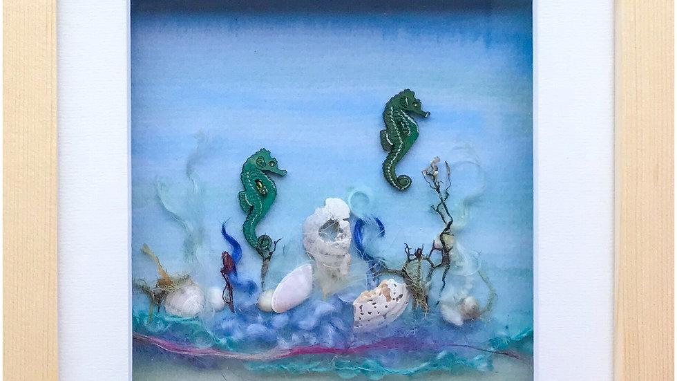 Medium Boxed Picture Seahorses