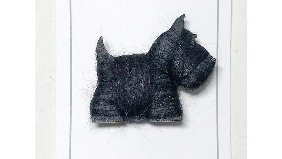 White & Black Westie/Scottie Dog Brooch