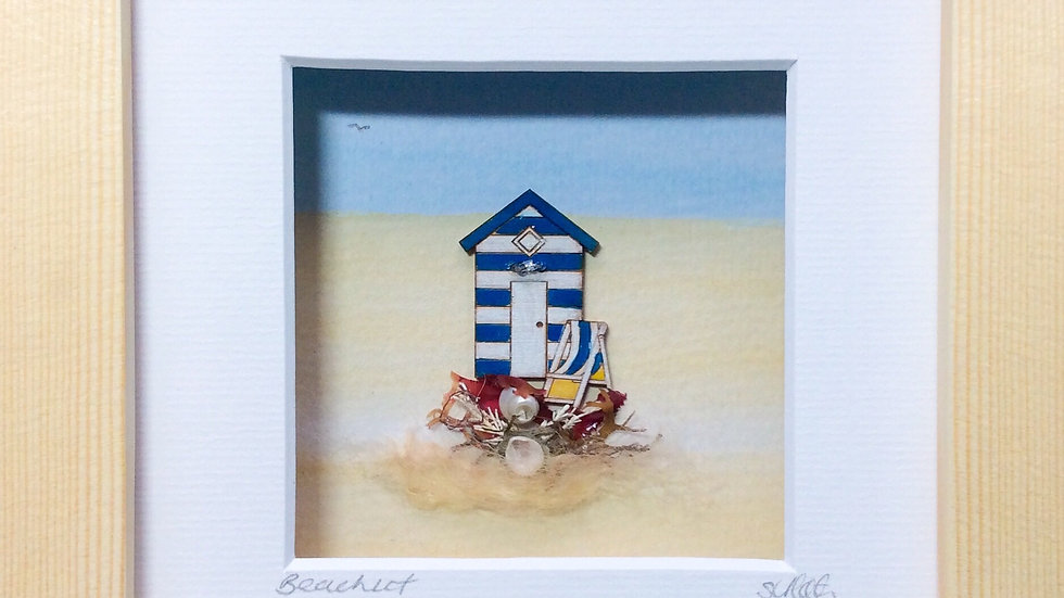 Small Boxed Picture Beach Hut