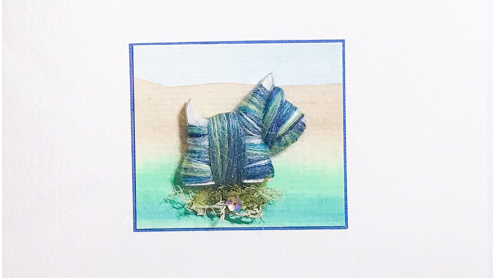 Card/Brooch Card Scottie dog