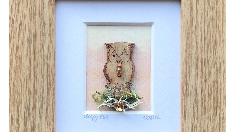 Owl Mini Boxed Picture