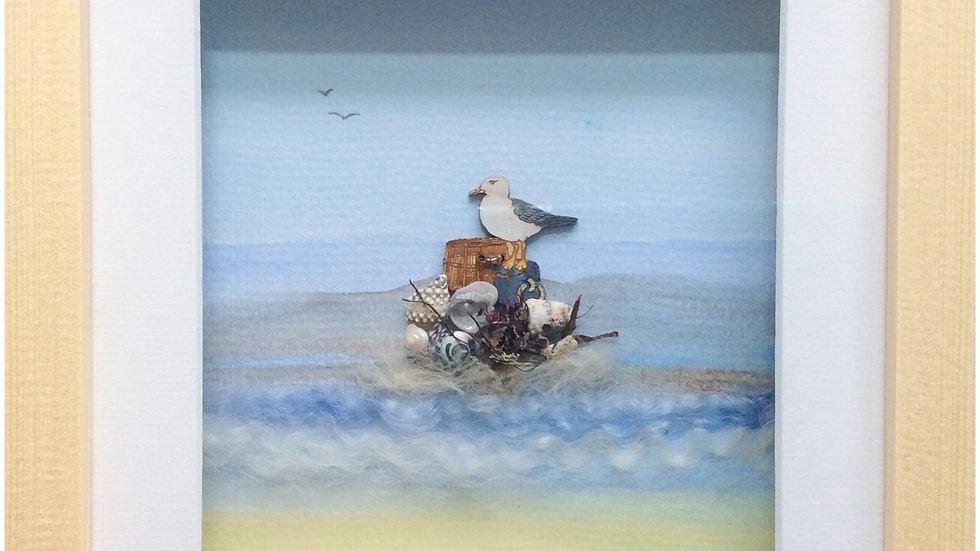 Medium Boxed Picture Seagull
