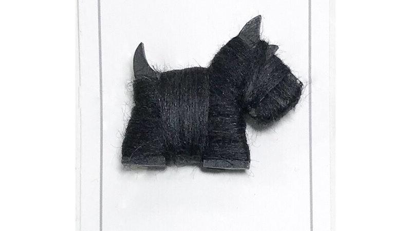 White & Black Westie/Scottie Dog Brooch