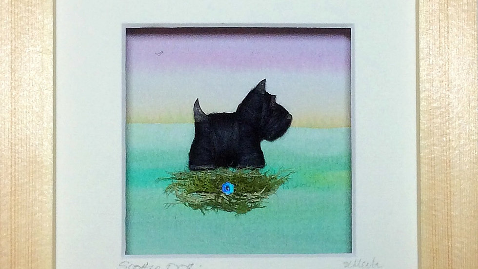 Small Boxed Picture  Scottie Dog