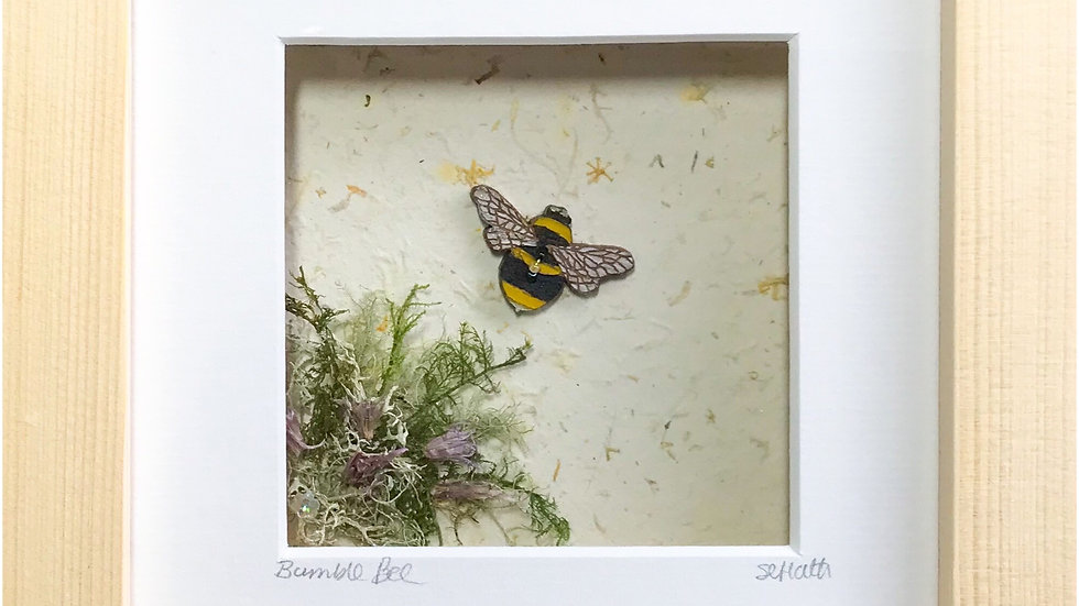 Small Boxed Picture Bumble Bee