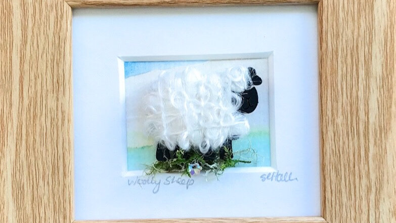 Woolly Sheep Watercolour Mini Boxed Pictures
