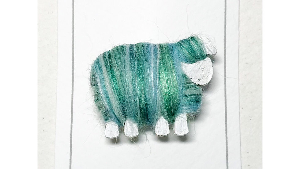 Woolly Sheep Brooch Colour Blends
