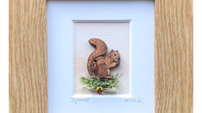 Red Squirrel Mini Boxed Picture