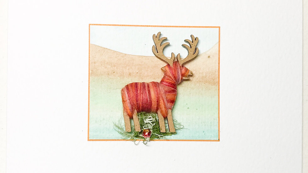 Card/Brooch Card Stag