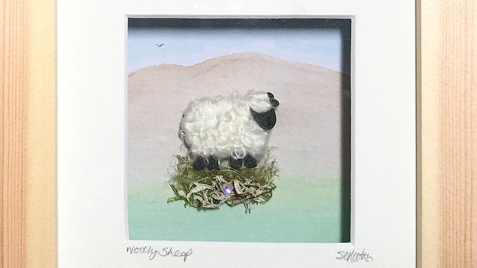 Small Boxed Picture Woolly Sheep