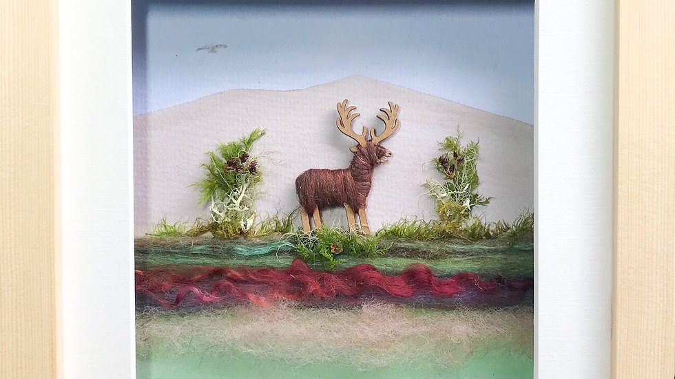Medium Boxed Picture Stag