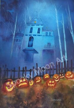 Haunted House at Dusk