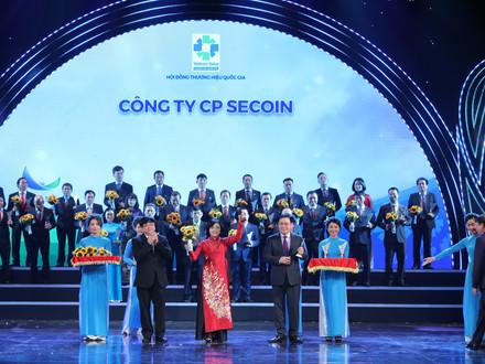 Secoin được công nhận Thương hiệu Quốc gia 2020-2022