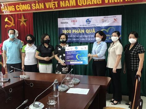 Trao quà cho Phụ nữ nghèo Hà Nội & Phụ nữ lao động tự do tại Hà Nội