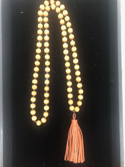 Wooden Bead with Tassel