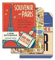Paris Mini Notebooks  3 in package
