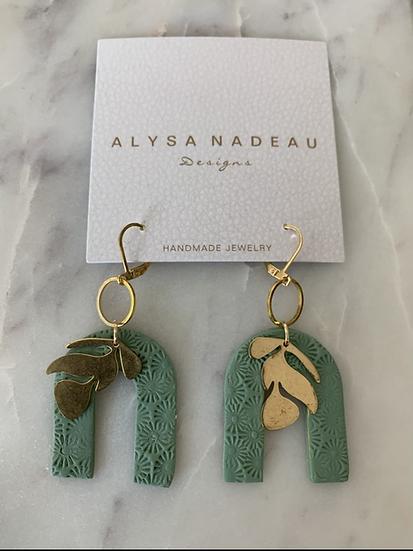 Earrings -leaf