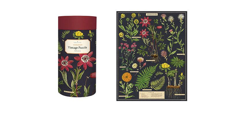 Cavallini Herbarium puzzle 1000 pieces