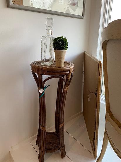 Vintage rattan plant stand