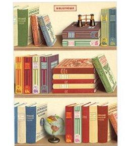 Cavallini La Biblioteque Poster (library)