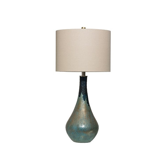 Glass lamps with shades