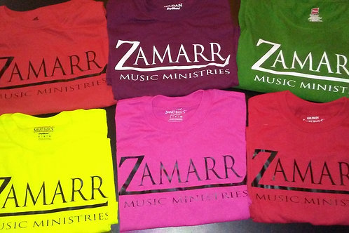 Zamarr Music Ministries Color T-Shirts