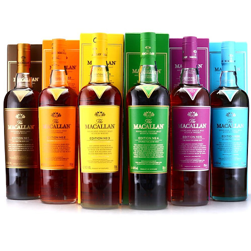 Macallan Edition No.1-6 (Set of 6 bottles)