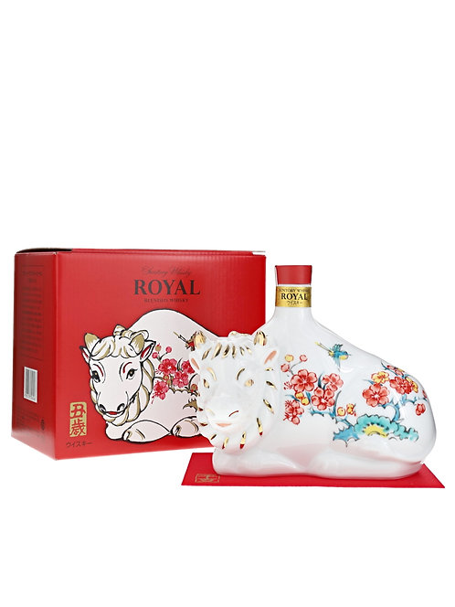 Suntory Whisky Royal Year Of Cow Zodiac Ceramic