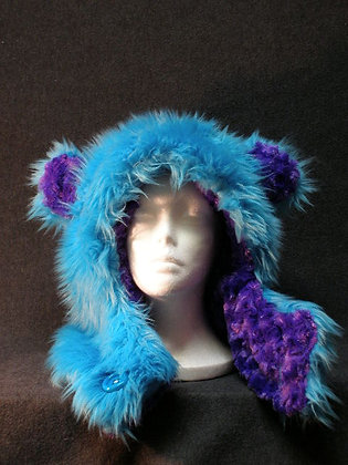 Turquoise with  Purple Plush