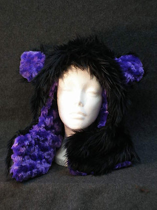 Black with Purple Plush