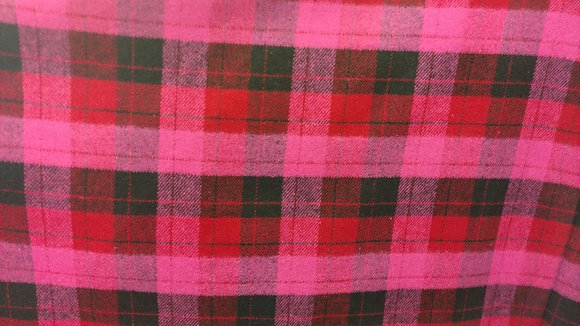 Red & Pink Flannel {Inner-Fabric}