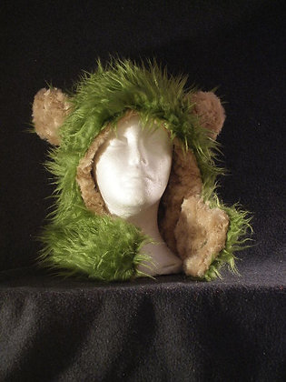 Moss with Beige Plush