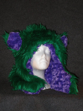 Kelly Green with Purple Plush