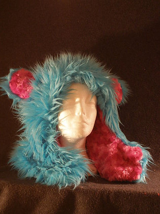 Turquoise with Hot Pink Plush