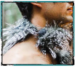 Owl Feather Pimp Collar