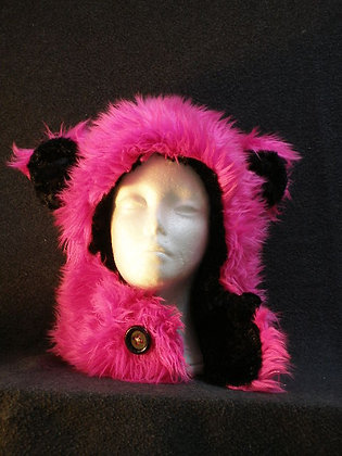Hot Pink with Black Plush